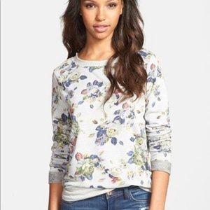 Olivia Moon floral tie back sweatshirt